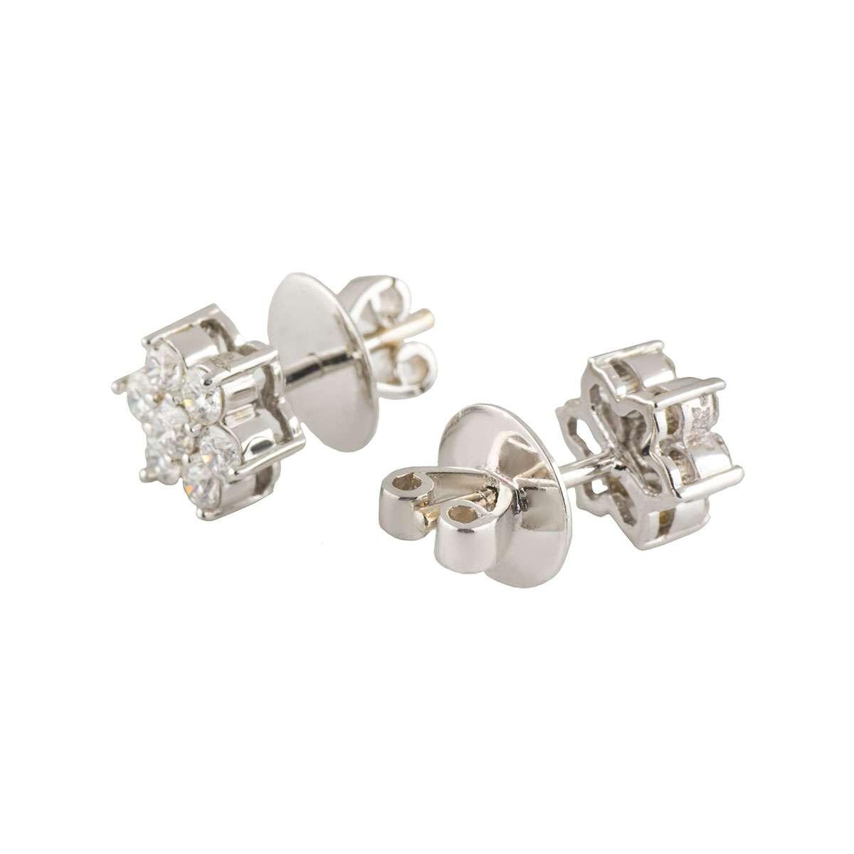 Flower Diamond Earrings 0.95ct